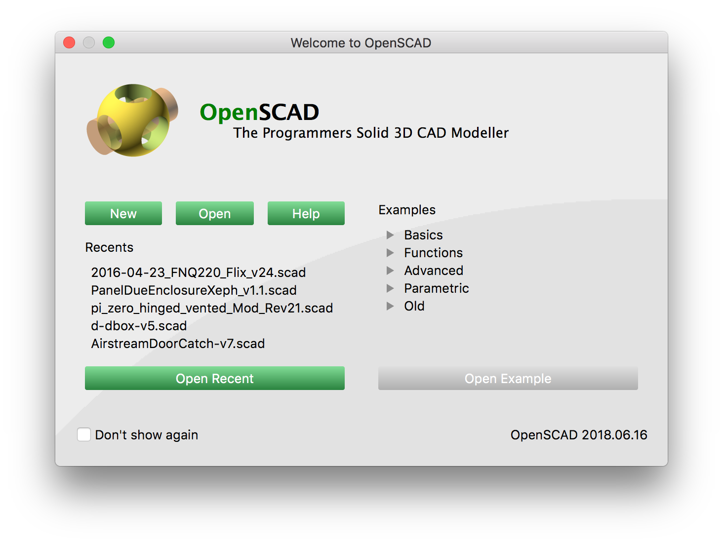 OpenSCAD Building on macOS